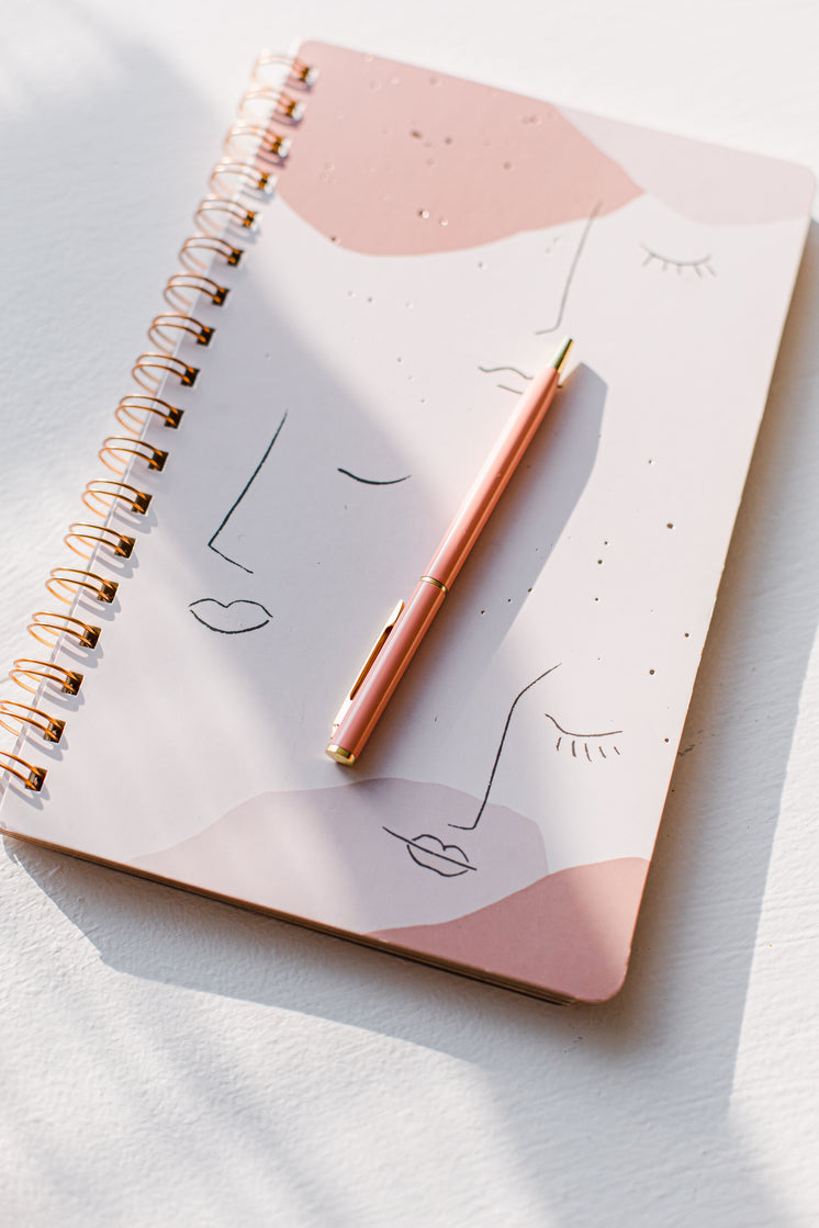 Pink Notebook And Pink Pen