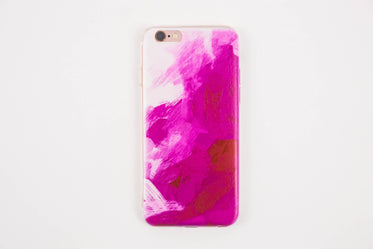 pink painted iphone 6 plus case