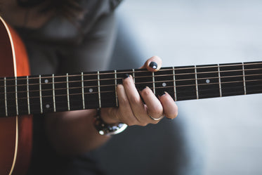 playing guitar fretboard