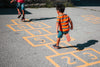 playing hopscotch together