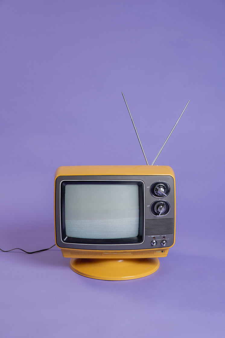Plugged In Vintage TV on Purple Infinity Background