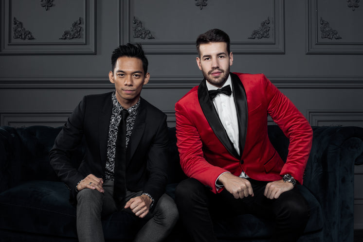 Portrait Of Men In Festive Suits