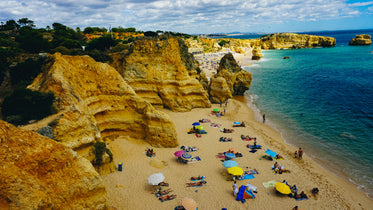 portugal beach cliffs