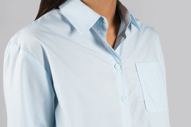 powder blue womens blouse