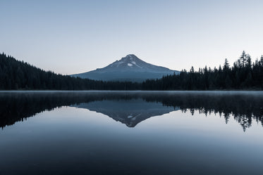 perfect reflection of mountain in water