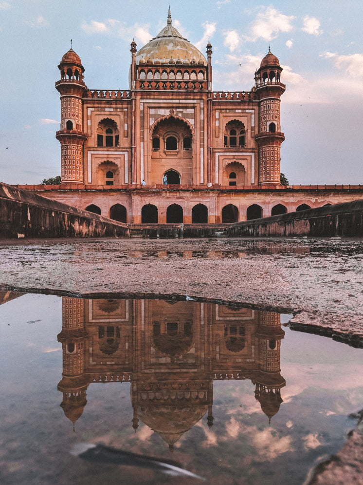 Puddle Reflects Mosque