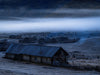 Quiet Wooden Farm With Low Clouds