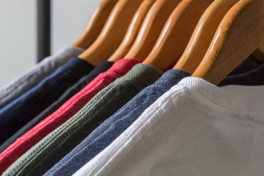 rack of blank tshirts