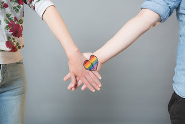 rainbow hands heart open
