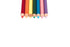 rainbow pencil crayons