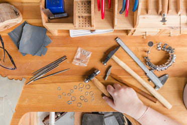 reaching for tools