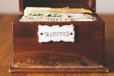 recipes in box