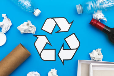 recycle symbol and items
