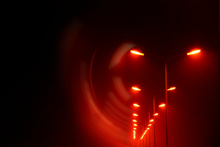 Red Abstract Street Lights