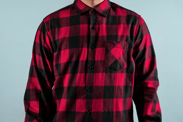 Picture of Red And Black Fall Shirt — Free Stock Photo