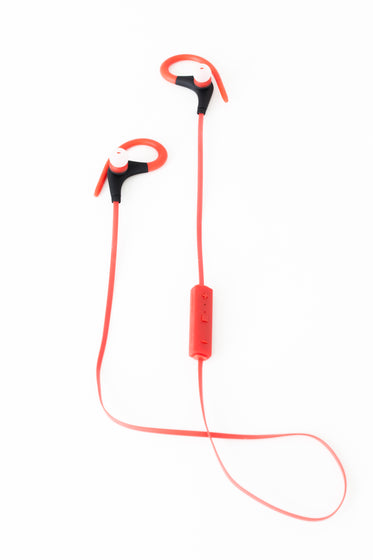 Picture of Red Bluetooth Earbuds - Free Stock Photo