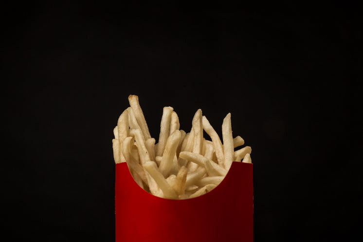 Red Box French Fries On Black