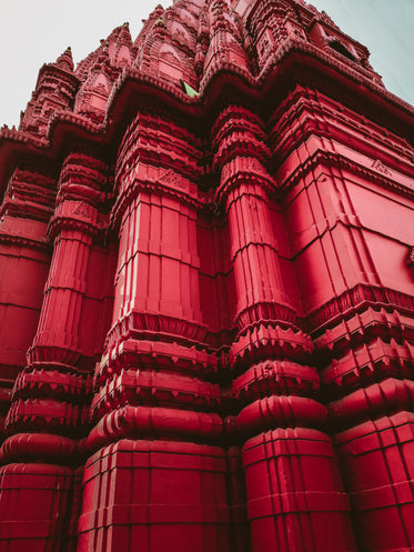 red decorated walls