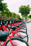 red public bicycles
