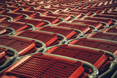 red shopping carts