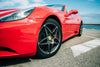 red sports car wheel close up