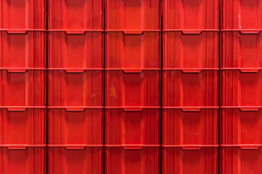 red stacked containers