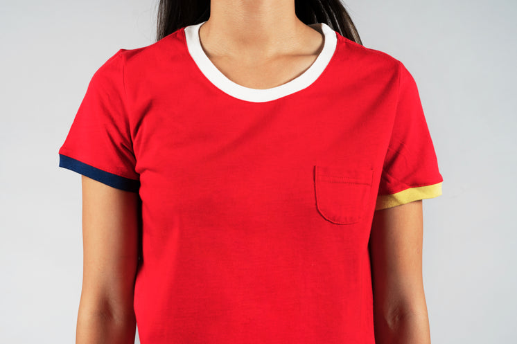 Red Tee With Pocket