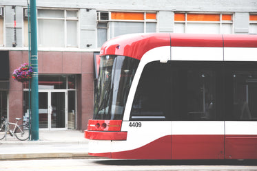 red white streetcar