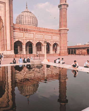 reflecting pool outside mosque