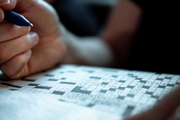 relaxing with a crossword