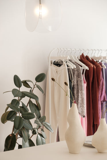 retail display in neutral colors