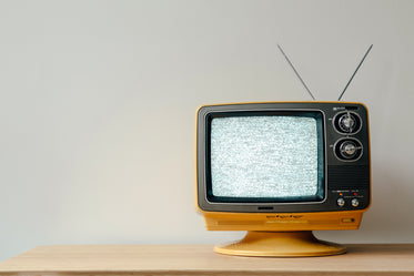 retro tv with static on-screen