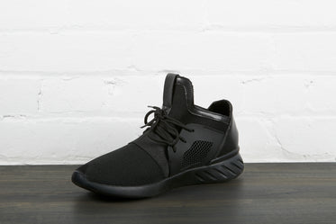 right foot all black sneaker