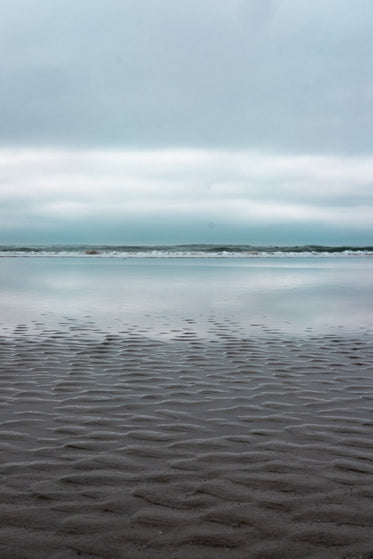 ripples in sand at low tide