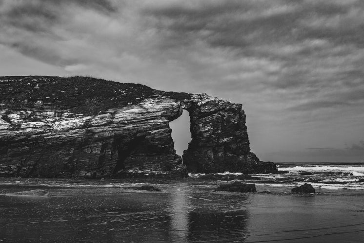Rock Faces In Black And White