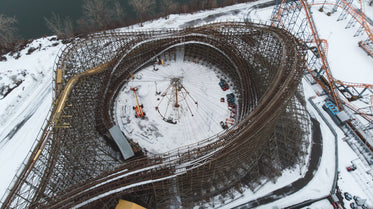 roller coaster park closed for winter