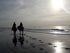 romantic horseback riding by ocean