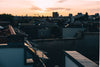 roof tops at sunset in an industrial setting