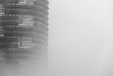 Browse Free HD Images of Round Skyscraper In Fog
