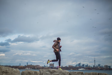 running on a cloudy day