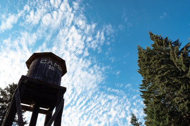 rustic water tower