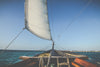 sailboat bow on water