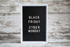 sale sign for black friday cyber monday