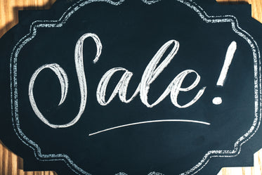 sale sign in chalk