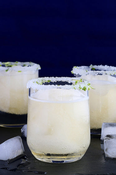 salted rims on margarita cocktails