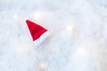santa hat on snow