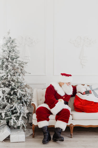 santa on the couch