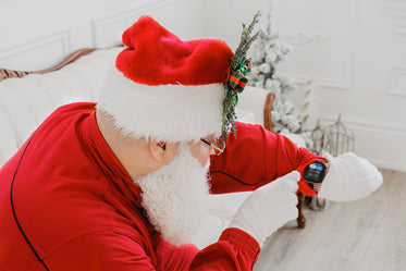 santa receives a message from his elves