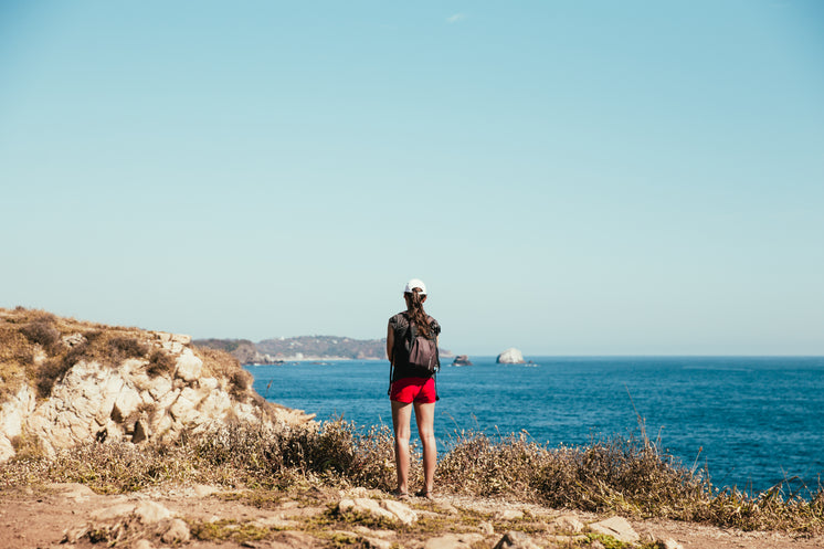 Seaside Hiker In Mexico