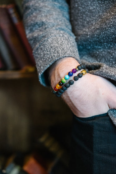 Picture of Seven Chakra Bracelet - Free Stock Photo